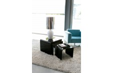 Golden Tris side tables by Unico Italia