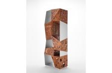 Riddled Totem sculpture by Horm